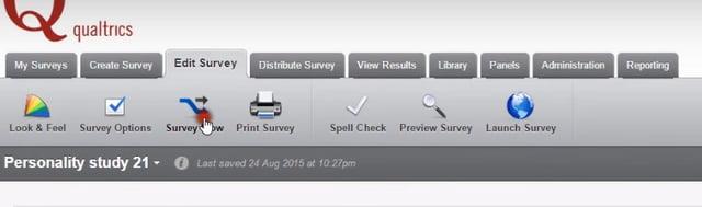 Survey Flow on Qualtrics