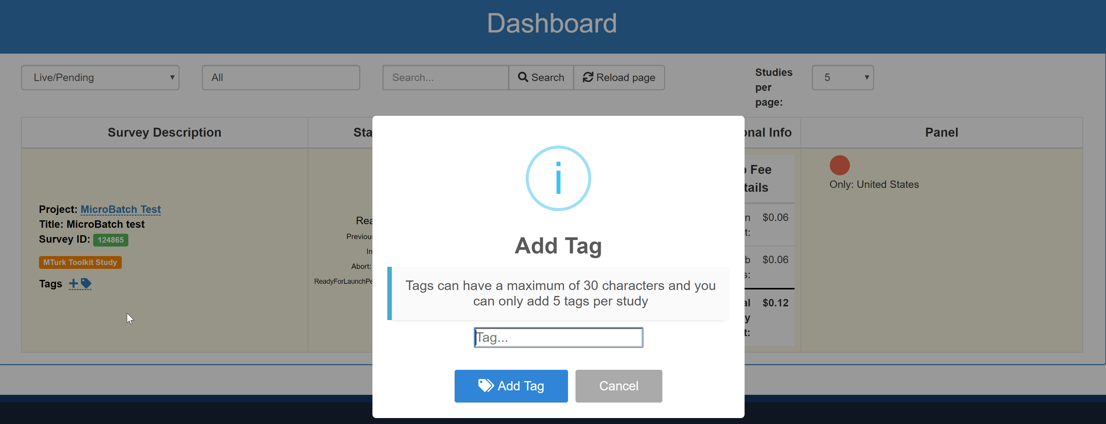How to Add Tags on TurkPrime Dashboard